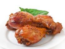 Piec kurczaków drumsticks Zdjęcia Royalty Free