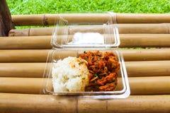 piec kurczaków ryż Zdjęcie Stock