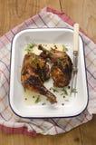 Piec kurczak nogi z rozmarynami Zdjęcia Stock