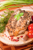 Piec kurczak pierś Obraz Royalty Free