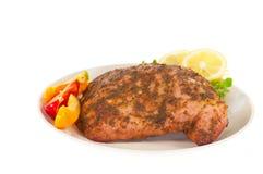 piec kurczaka chłodu cytryna zdjęcie royalty free