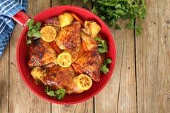 Piec kurczaka gość restauracji Obrazy Stock