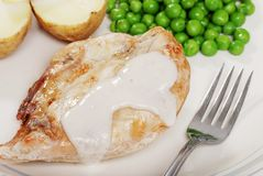 piec kurczaka zbliżenia pieczarkowy kumberland Obraz Royalty Free