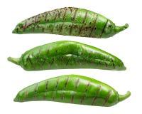 Piec ląg zieleni chiles zdjęcia royalty free