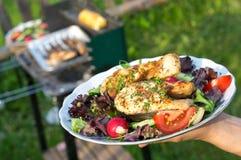 piec na grillu łosoś Zdjęcie Stock