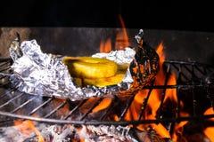 Piec na grillu ananas Obrazy Royalty Free