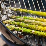 Piec na grillu asparagus Fotografia Stock