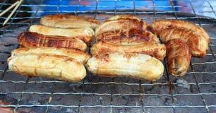 Piec na grillu banan Zdjęcie Stock