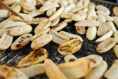 Piec na grillu banan Zdjęcie Royalty Free