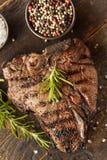 Piec na grillu BBQ kości stek Obraz Stock