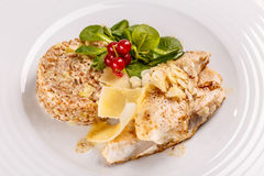 Piec na grillu butterfish lub sablefish Obraz Royalty Free