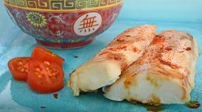 Piec na grillu chińskiego stylu ryba Obraz Royalty Free