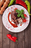 Piec na grillu cranberry kumberland i Zdjęcie Stock