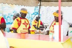 Piec na grillu festiwal Abidjan Zdjęcia Royalty Free
