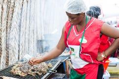 Piec na grillu festiwal Abidjan Obraz Stock