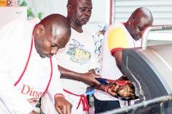 Piec na grillu festiwal Abidjan Fotografia Royalty Free