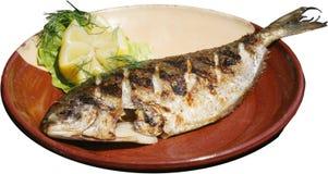 piec na grillu grill ryba Zdjęcie Royalty Free