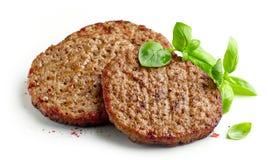 Piec na grillu hamburgeru mięso Obraz Stock