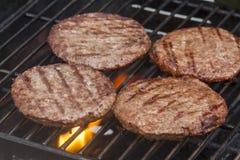 Piec na grillu Hamburgery Obraz Royalty Free