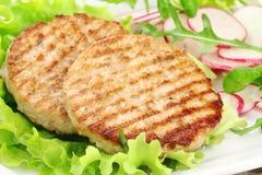Piec na grillu hamburgery Fotografia Stock