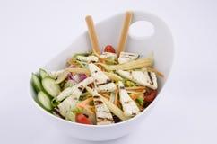 Piec na grillu hellim serowa śródziemnomorska sałatka zdjęcia stock