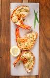 Piec na grillu homarów ogony Fotografia Royalty Free