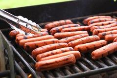 Piec na grillu hot dog Obraz Stock