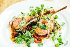 Piec na grillu jagnięcego kotlecika mięsa stek Obrazy Royalty Free