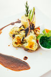 Piec na grillu jagnięcy mięsny stek Fotografia Stock