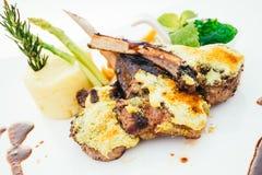 Piec na grillu jagnięcy mięsny stek Obraz Royalty Free