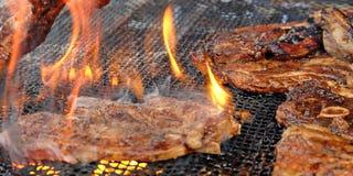 Piec na grillu jagnięcy kotleciki Obraz Royalty Free