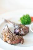 piec na grillu jagnięcy stek Zdjęcie Royalty Free