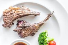piec na grillu jagnięcy stek Zdjęcia Stock