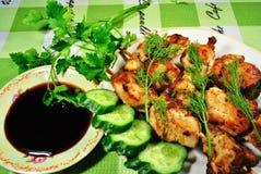 piec na grillu kebab Obraz Stock