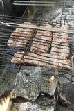 Piec na grillu kiełbasa Zdjęcie Stock