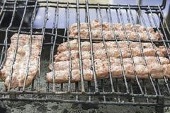 Piec na grillu Kiełbasiana restauracja Obrazy Stock