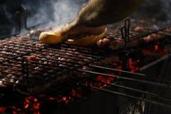 Piec na grillu kiełbasa Obraz Stock