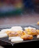 Piec na grillu kleistych ryż ochraniacz z jajkiem Zdjęcia Stock