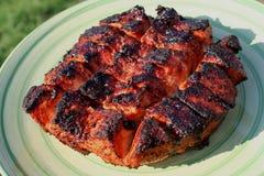 Piec na grillu kraju stylu wieprzowiny loin 4 Zdjęcie Royalty Free