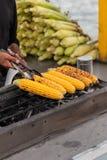 Piec na grillu kukurudza na cob Obraz Royalty Free