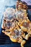 Piec na grillu kurczak Fotografia Royalty Free