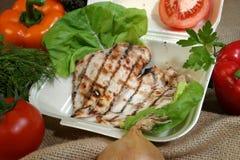 Piec na grillu kurczak Fotografia Stock
