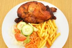 Piec na grillu kurczak Obraz Royalty Free