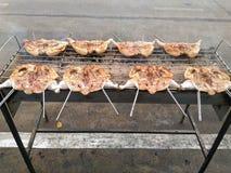 Piec na grillu kurczak, grilla kurczak, BBQ kurczak Obraz Royalty Free