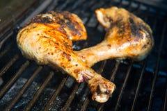 Piec na grillu kurczak noga Zdjęcie Stock