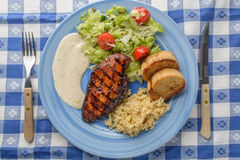 Piec na grillu kurczak pierś Zdjęcie Stock