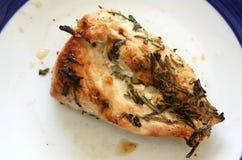 Piec na grillu kurczak pierś z ziele obraz stock