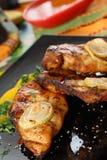 Piec na grillu kurczak polędwicowy. zdjęcie stock