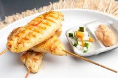 Piec na grillu kurczak Satay Zdjęcia Royalty Free