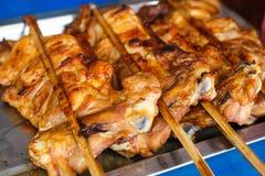 Piec na grillu kurczak (Tajlandzki styl) Obraz Royalty Free